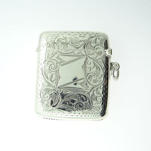 Antique Sterling Silver Vesta Case