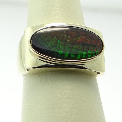 Ammolite Stone Ring
