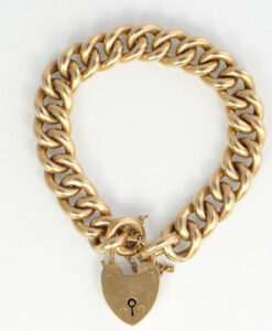 15ct Gold Engraved Curb Bracelet