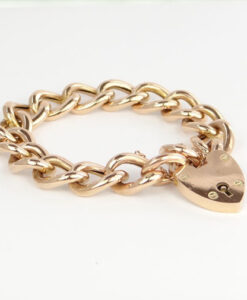 Rose Gold Curb Bracelet c1900