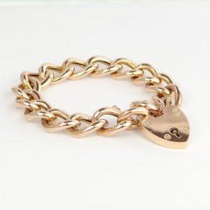 Rose Gold Curb Bracelet c1900
