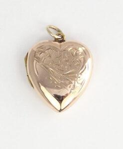 Antique 9ct Rose Gold Heart Locket