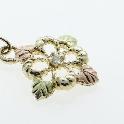 10ct Black Hills Gold diamond pendant
