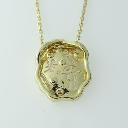 Man Cave Jewellery : Ct gold diamond set caveman art pendant the jewellery