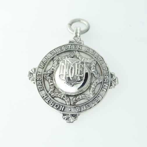 Silver Manchester League Football Medal