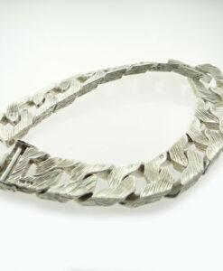 Silver Gents Curb Bracelet 1978