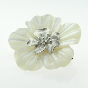 Whitney Kelly White Flower Brooch