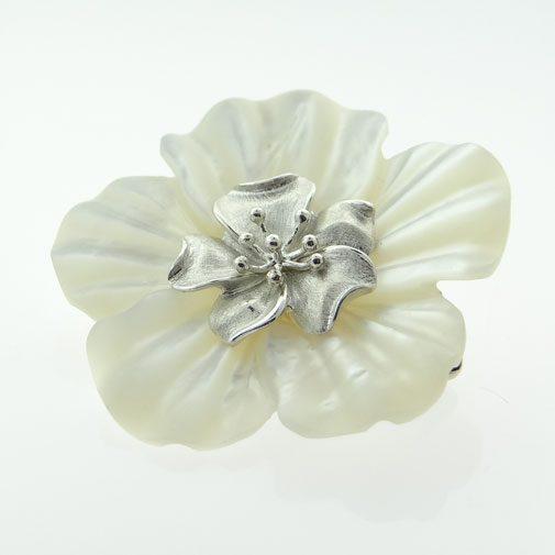 Whitney Kelly White Flower Brooch