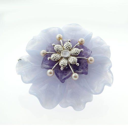 Whitney Kelly Flower Brooch