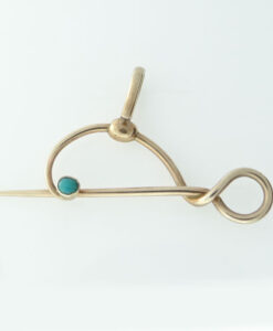 Turquoise set Fob or Watch Pin