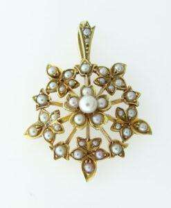 Seed Pearl Pendant circa 1900