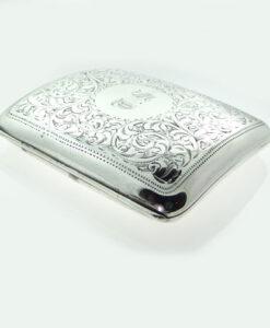 Antique Silver Cigarette Case 1902