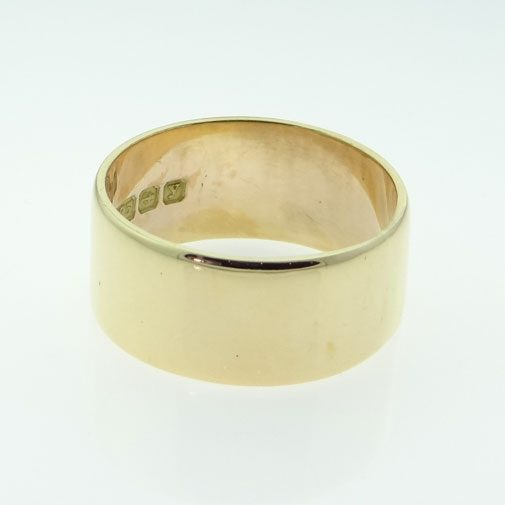 Broad Rose Gold Wedding Ring