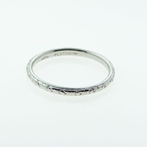 Vintage platinum wedding ring