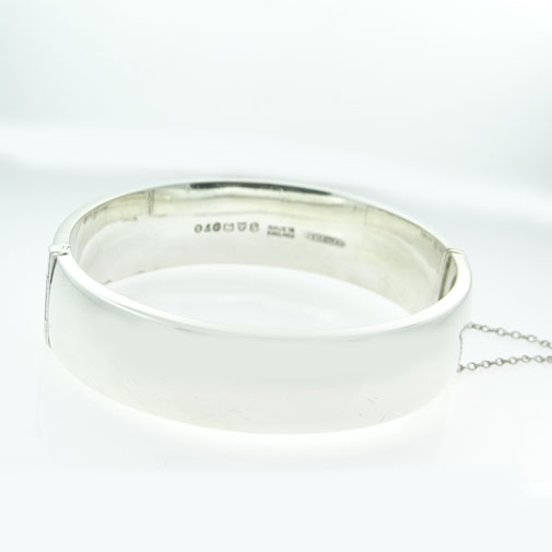 Vintage Silver Half Engraved Bangle