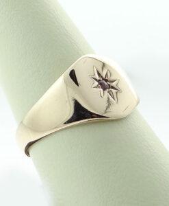Vintage Ruby Set Signet Ring