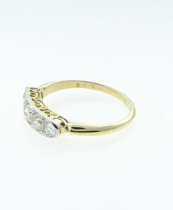 Antique Gold Five Stone Diamond Ring