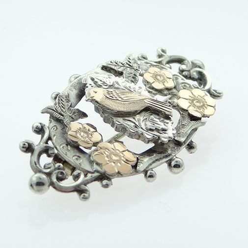 Antique Silver Bird Brooch