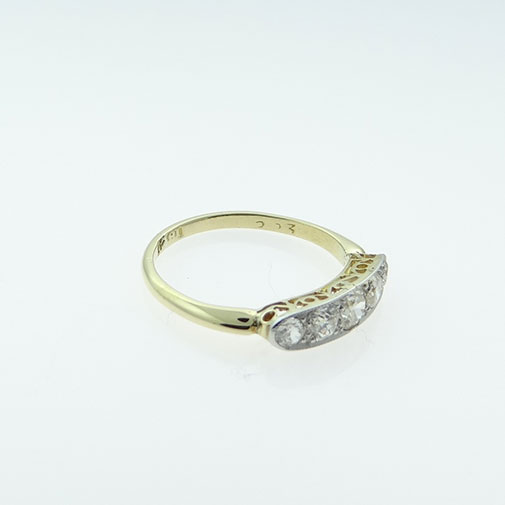 Gold Five Stone Diamond Ring
