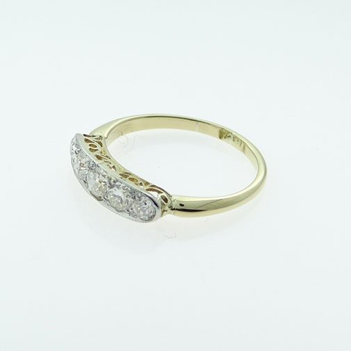 18ct Gold Five Stone Diamond Ring