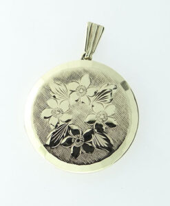 Vintage Georg Jensen Gold Engraved Locket