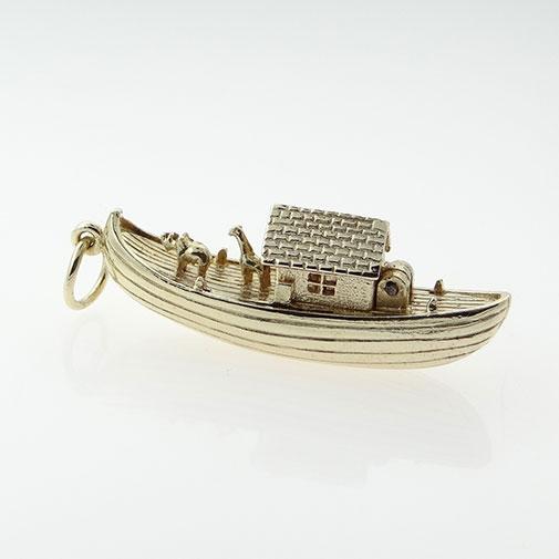 Gold Noah's Ark Charm