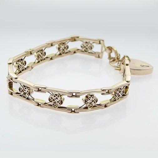 Rose Gold Fancy Link Bracelet