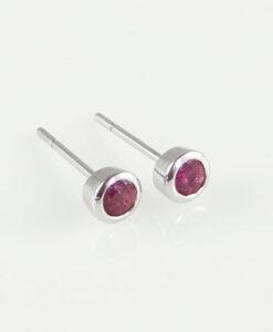 gold ruby stud earring