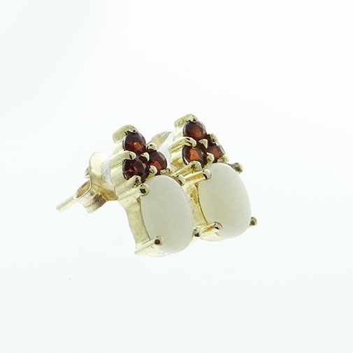 opal and garnet earrings