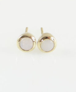 gold opal stud earrings
