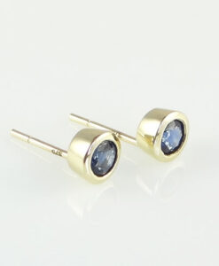 9ct Gold Sapphire Stud Earrings