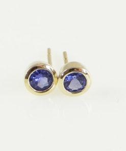 9ct Gold Tanzanite Stud Earrings