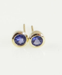 9ct Gold Tanzanite Stud Earrings