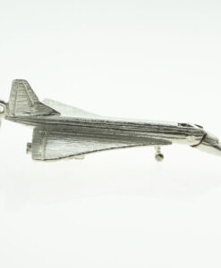 Vintage 1970's Sterling Silver Concorde Charm