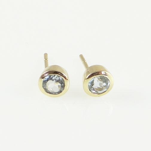 Aquamarine Stud Earring