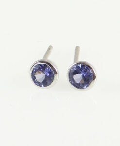 SilverTanzanite Stud Earrings