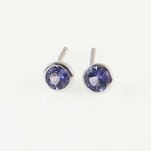 SilverTanzanite Stud Earrings