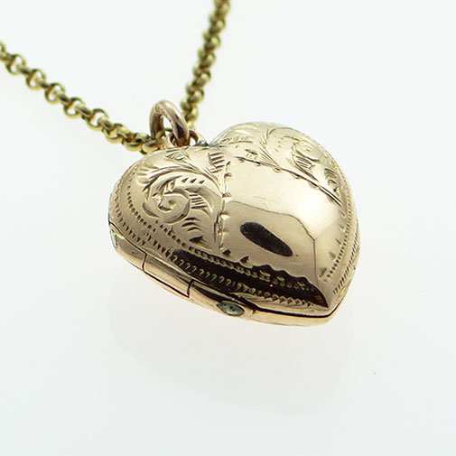 Antique Rose Gold Heart Locket
