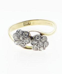 Gold Diamond Daisy Double Cluster