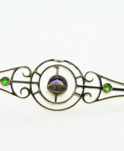 Emerald and Amethyst Suffragette Brooch