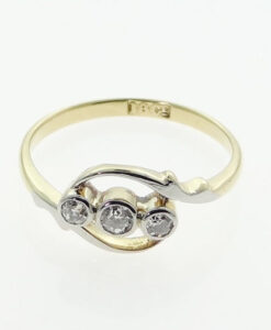 Antique Diamond Twist Ring