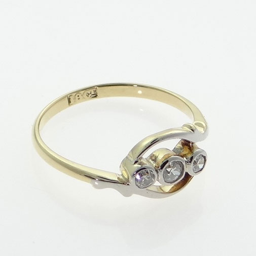 Antique Diamond Twist Ring