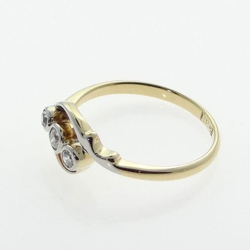 Antique Gold Diamond Twist Ring