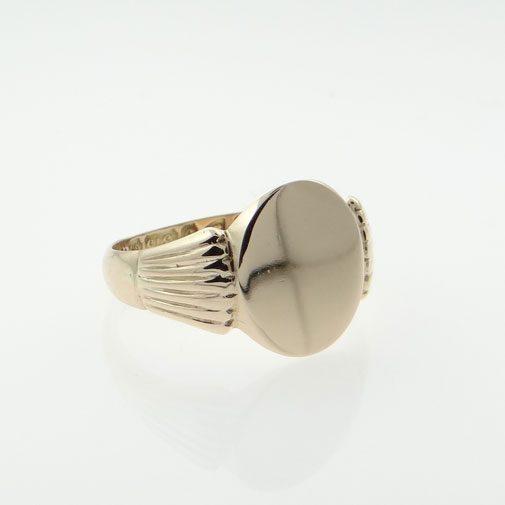 Antique Rose Gold Oval Signet Ring