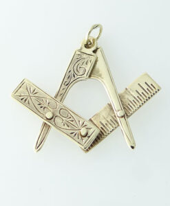 Masonic Square And Compass Pendant