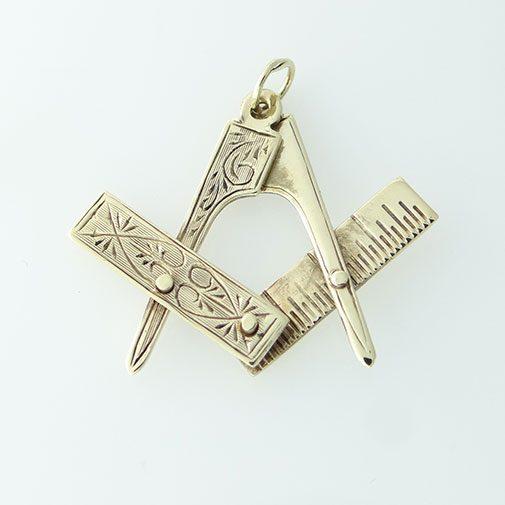 Masonic Square And Compass Pendant
