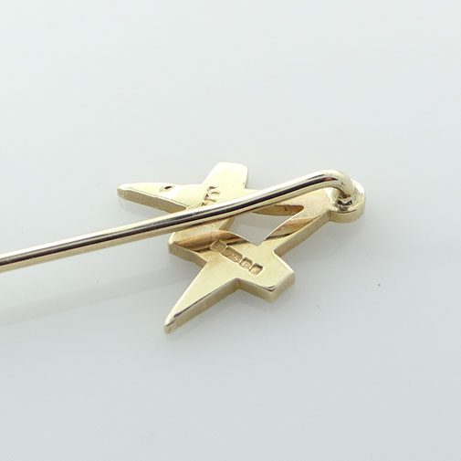 Gold Masonic Square And Compass Stick Pin