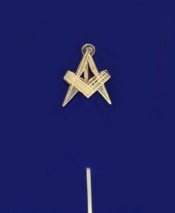 Masonic Square And Compass Stick Pin
