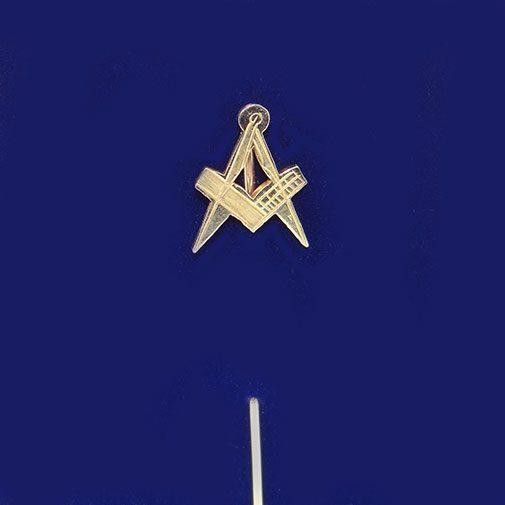 Masonic Square And Compass Stick Pin