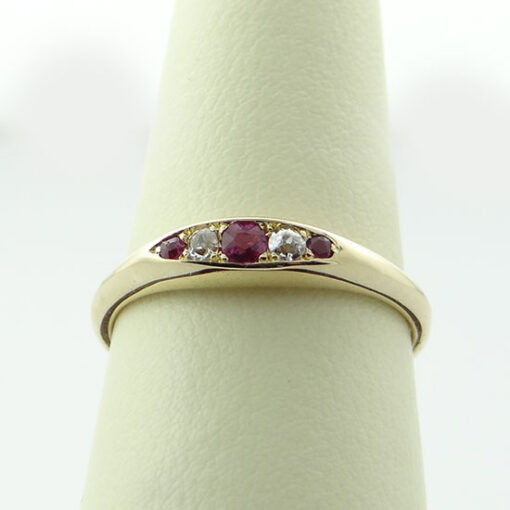 Antique 18ct Gold Ruby and Diamond Ring